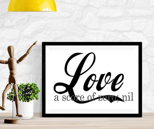 Love - a score of zero; nil
