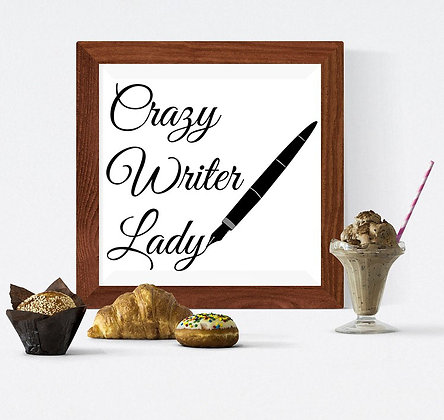 crazy writer lady