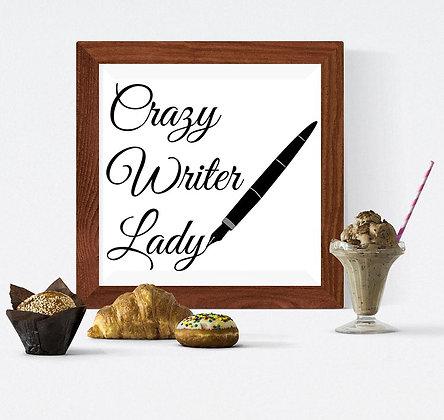 crazy writer lady