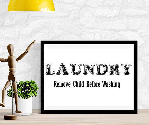 Laundry Remove Child Before Washing