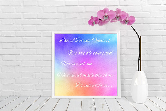 Universal Law of Divine Oneness Square