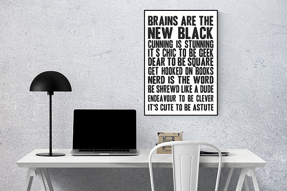 Brains are the new black