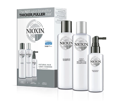 Nioxin System 1 Starter Trial Kit 150ml + 150ml + 50ml