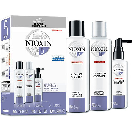 Nioxin System 5 Starter Trial Kit 150ml + 150ml + 50ml