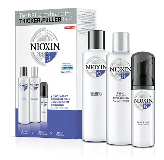 Nioxin System 6 Starter Trial Kit 150ml + 150ml + 40ml