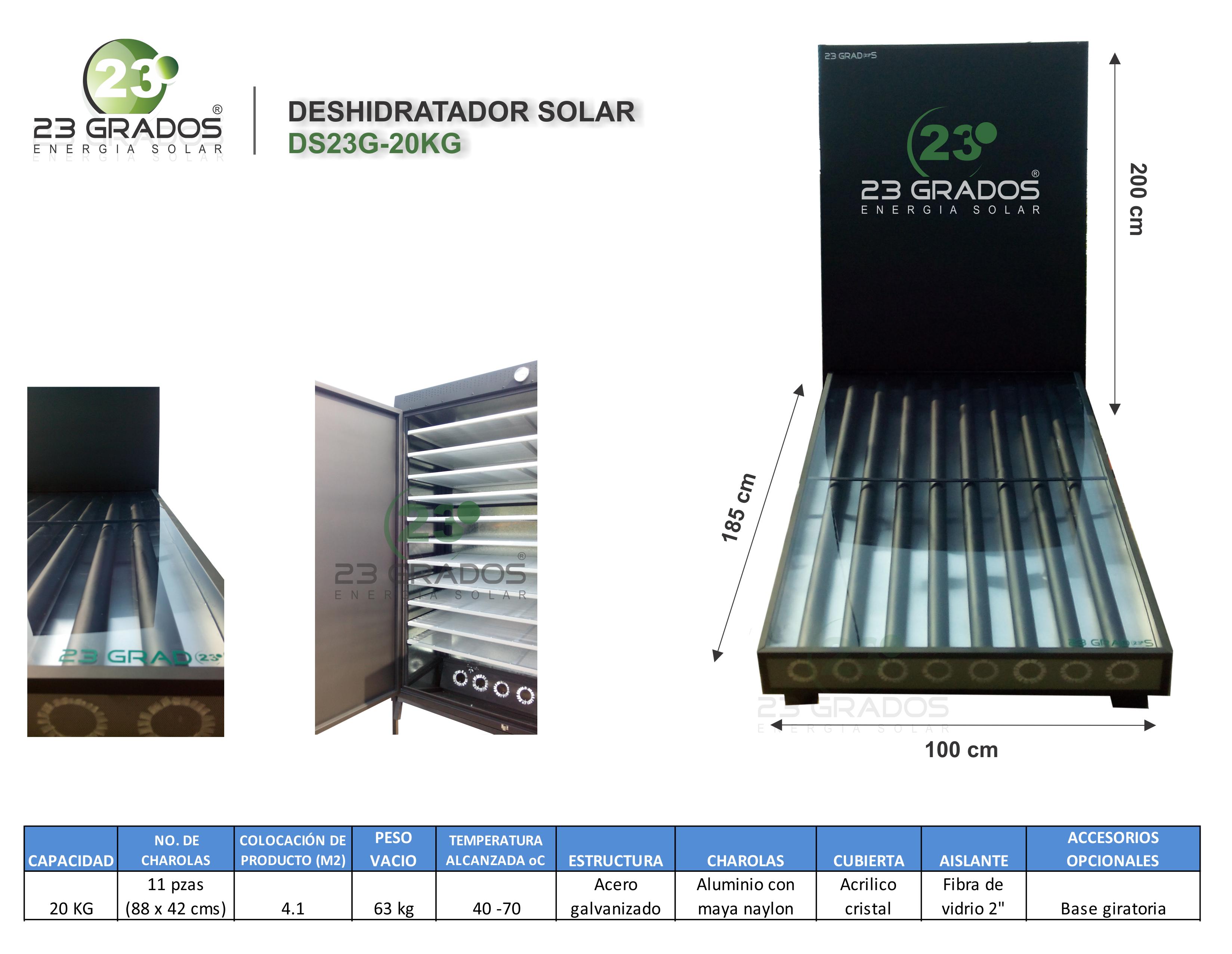 Deshidratador Solar DS23G-20kg
