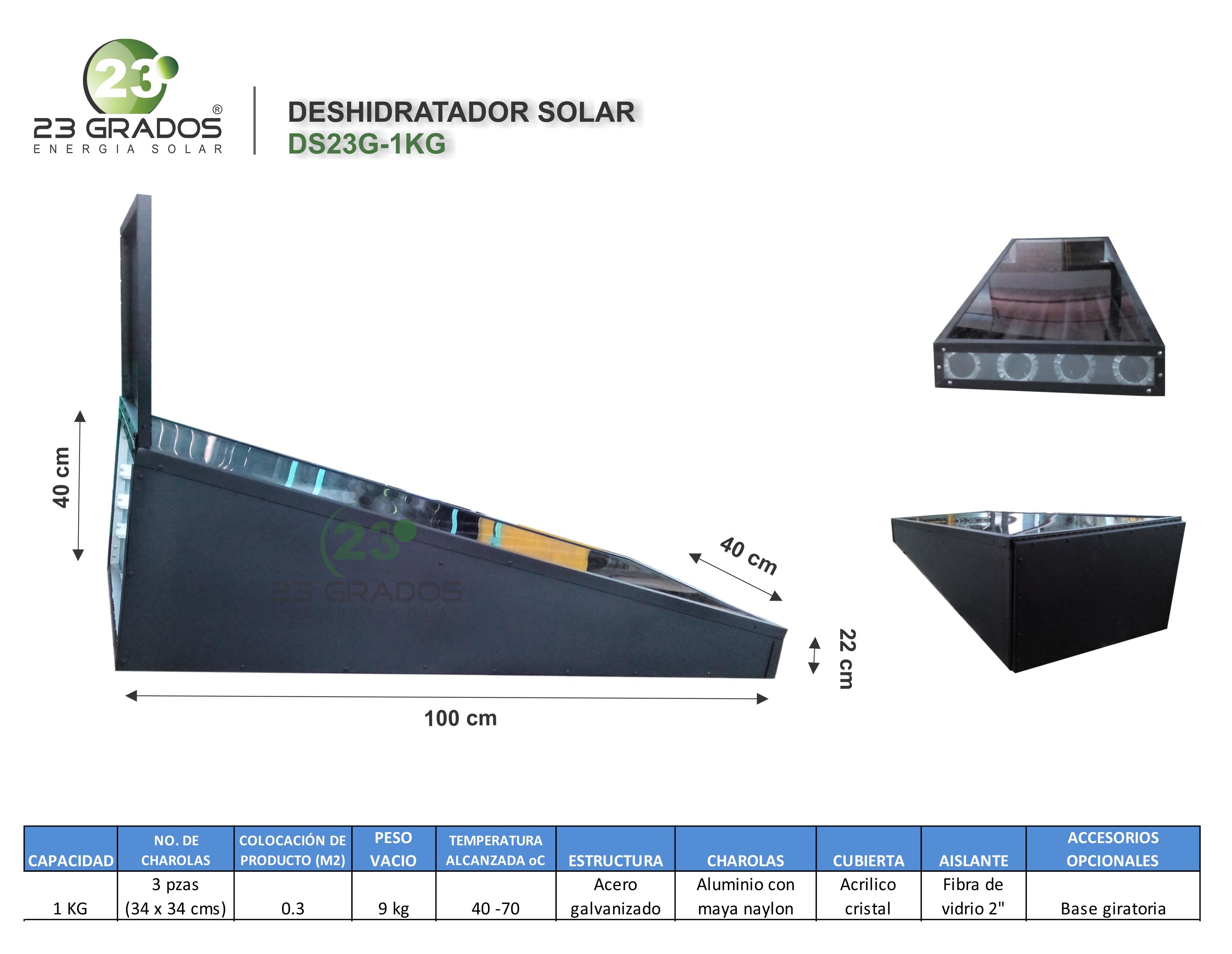 Deshidratador Solar DS23G-1kg
