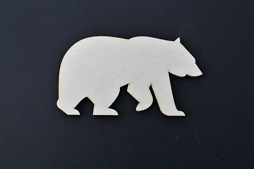 Laser cut ply bear 100mm