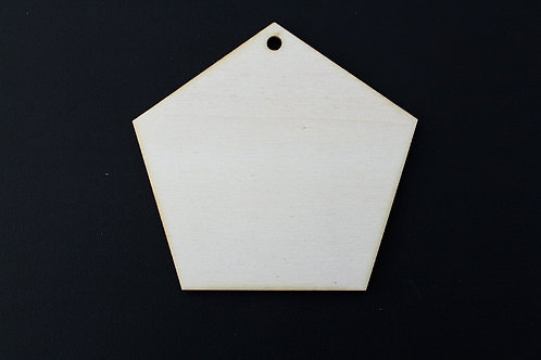 Pentagon plywood tag