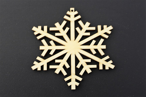 75mm ply snowflake cut out shape