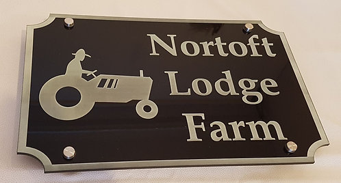 Large Perspex laser cut and engraved House sign
