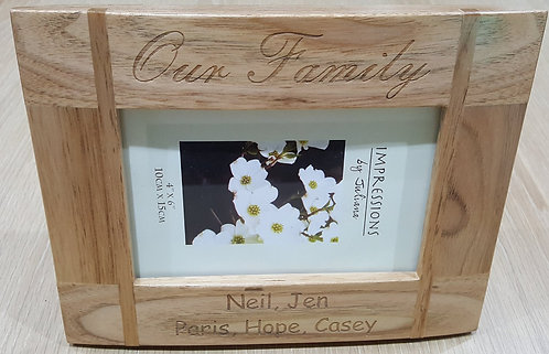Solid oak frame with curved face
