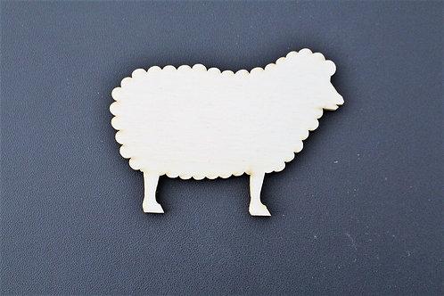 Laser cut ply sheep shape