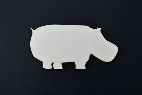 Laser cut ply Hippo 100mm