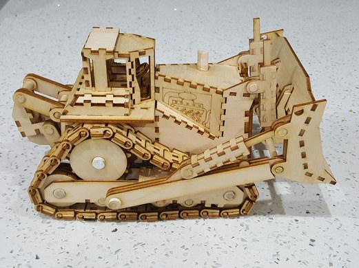 Laser cut Bulldozer
