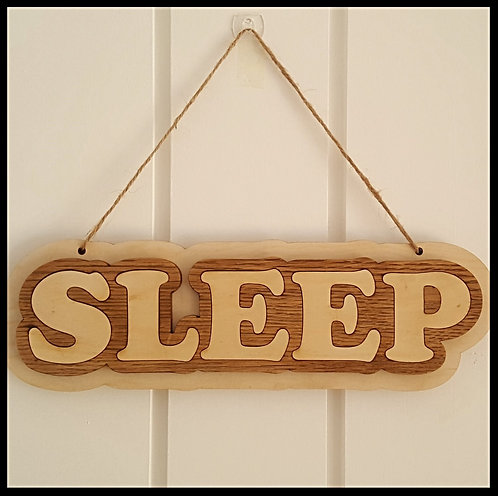 Hanging Sleep sign