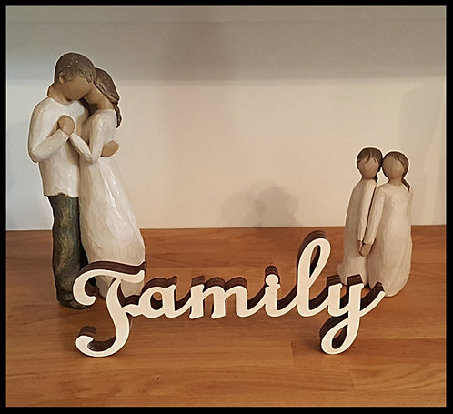 Family free standing wood sign