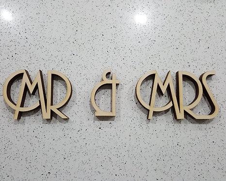 Art Deco Freestanding Mr & Mrs sign