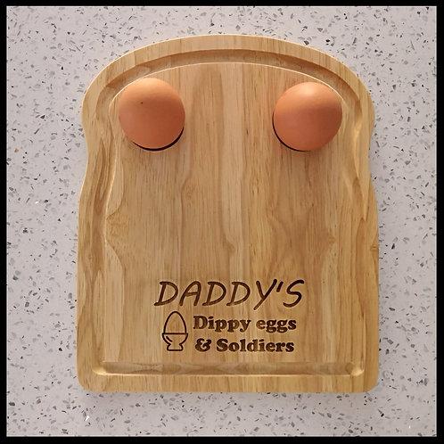 Heava wood personalised toast shape board