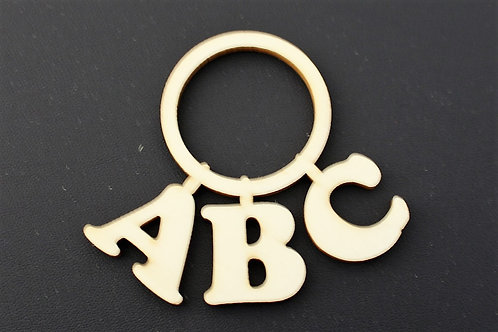 Laser cut ply baby's abc rattle