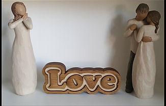 Feestanding Loveword sign