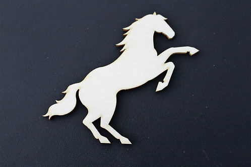 Laser cut rearing horse shape 100mm