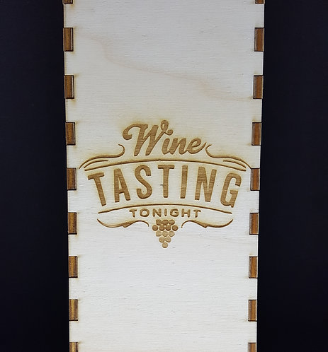 Wine tasting tonight engraved wine box