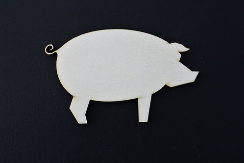 Laser cut ply Pig 100mm