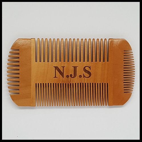 Personalised Pear wood beard comb