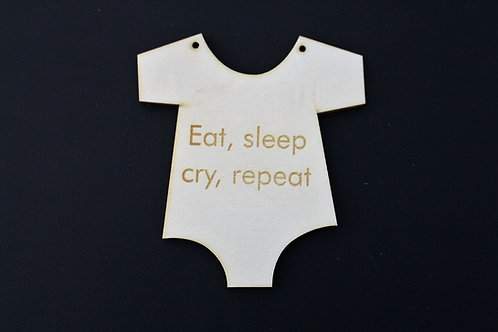 Eat, sleep baby grow funny sign