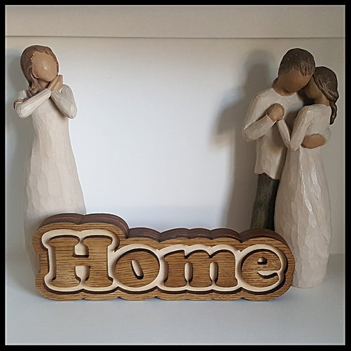 Freestanding Home word sign