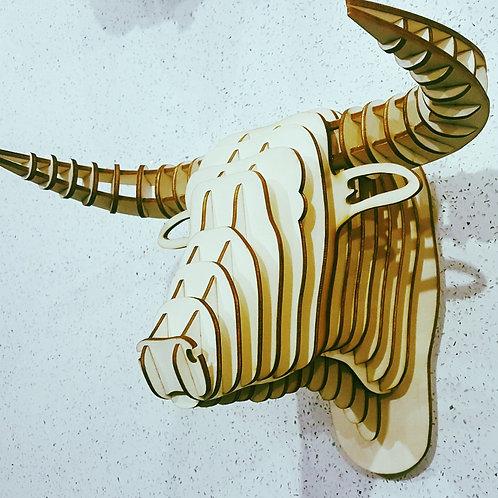 Bulls 3D animal head