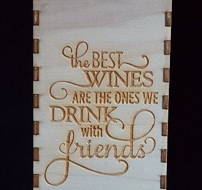 The best wines engraved wine box