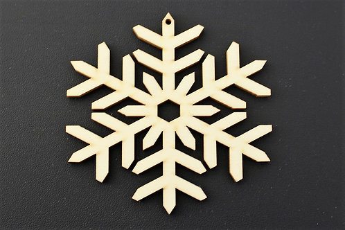 75mm snowflake shape poplar ply