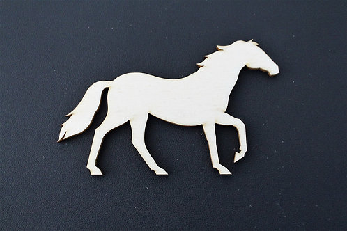 Laser cut Trotting Horse 100mm