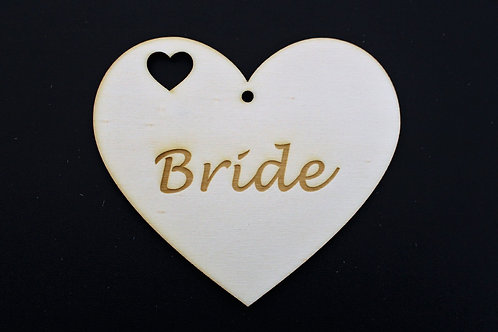 Bride and Groom heart