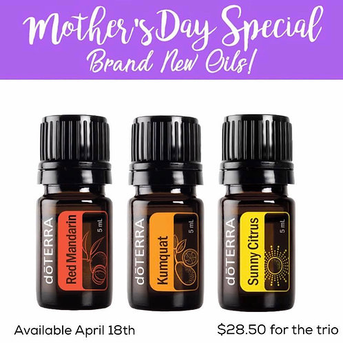 DoTERRA MOTHER'S DAY SPECIAL Citrus Trio