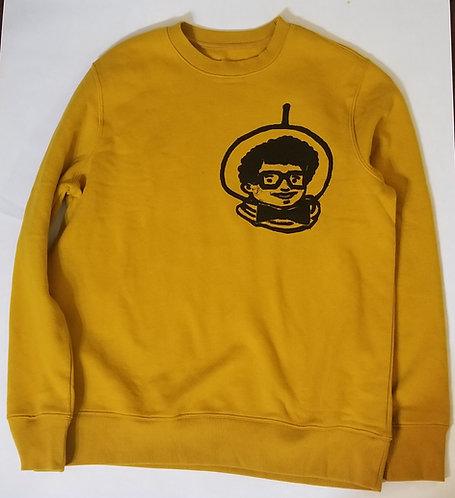 Mustard Colored Afro-Naut crewneck