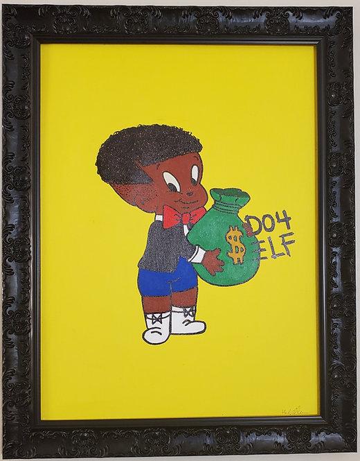 """DO 4 $ELF bag"" Pantone Yellow version"