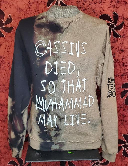"""Cassius"" Bleached CrewNeck sweater"