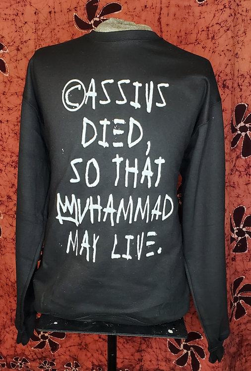 """""""Evolution of Cassius"""" black crewneck"""