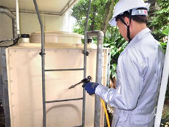 貯水槽(受水槽・高置水槽)の清掃について
