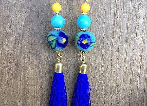 Unique Handmade Beaded Tassel Earrings