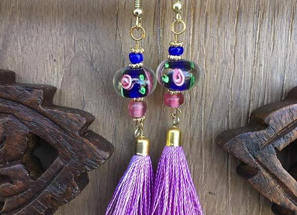 Unique Handmade Beaded Tassel Earrings