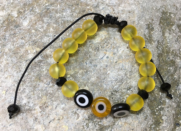 Black and Yellow Evil Eye Bracelet