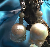 Mother pearl and labradorite earrings
