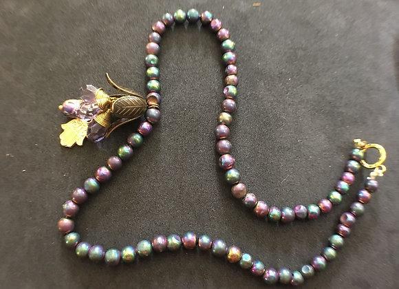 Titanium Stone Buddha Necklace