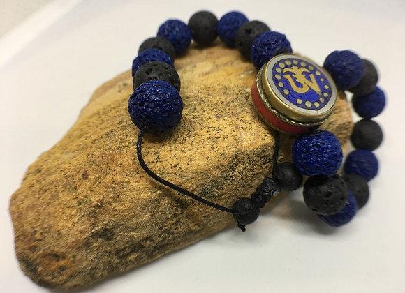 Volcanic Stone Men's Bracelet