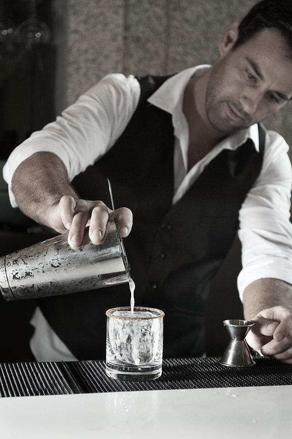 Sin Vodka bartender