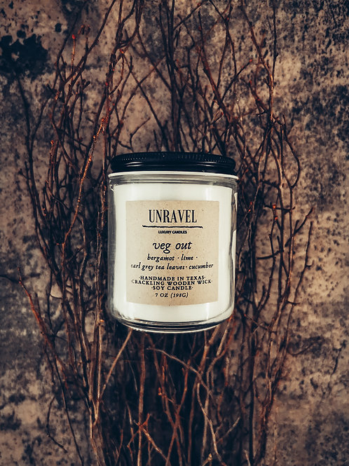 Veg Out Soy Candle 7oz.